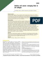 Proline metabolism and cancer