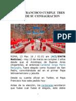 3 Años de Papa Francisco