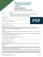 kim halim- all process journals