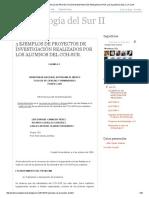 Antropología Del Sur Ii_ 3 Ejemplos de Proyectos de Investigación Realizados Por Los Alumnos Del Cch-sur