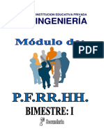 PFRH 2° SEC - I BIMESTRE