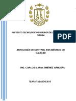 Antologia de Control Estadistico de Calidad 2015