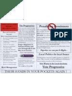 Ken Hickman election leaflet pt. 2