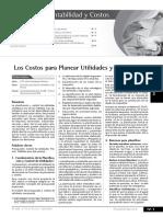 Los Costos Para Planear Utilidades y Fijar Precios