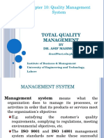Chapter # 10 (Quality Management System)