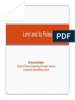Limit and Its Rules calculus