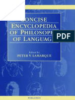 Concise Encyclopedia of Philosophy of Language