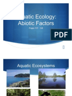Aquatic Ecology (Abiotic Components) PowerPoint
