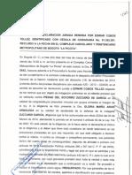 Declaracion Edwar Cobos Tellez. 3 de marzo 2014