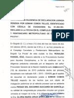 Declaracion Edwar Cobos Tellez. Marzo 13 y 14 de 2014