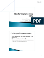 Tips for Implementing the EHR (Slide)
