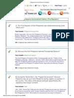 Philippine Government History (the Republic)