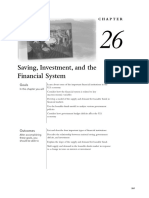 Chapter 26 - Saving Investment and the Fincancial System