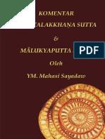 Komentar Anattalakkhana Sutta Dan Malukyaputta Sutta