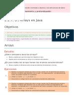 2.2.1. (P) Arrays en Java