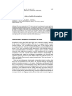 New Avenues in the Study of Political Corruption