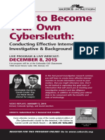CLE in Colorado 2015 Cybersleuth Investigative Research CLE