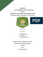 Makalah Sejarah Pendidikan islam Masa Kerajaan Islam