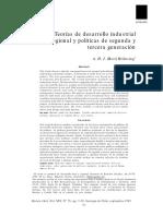 teorías de desarrollo industrial regional y políticas de segunda y tercera generación