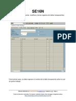 Transacción SE16N (SAP ERP)