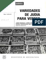 VARIEDADES DE JUDIA PARA VERDEO