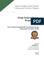 Pump Station Design Requirements