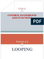 Lesson 2.3 Looping