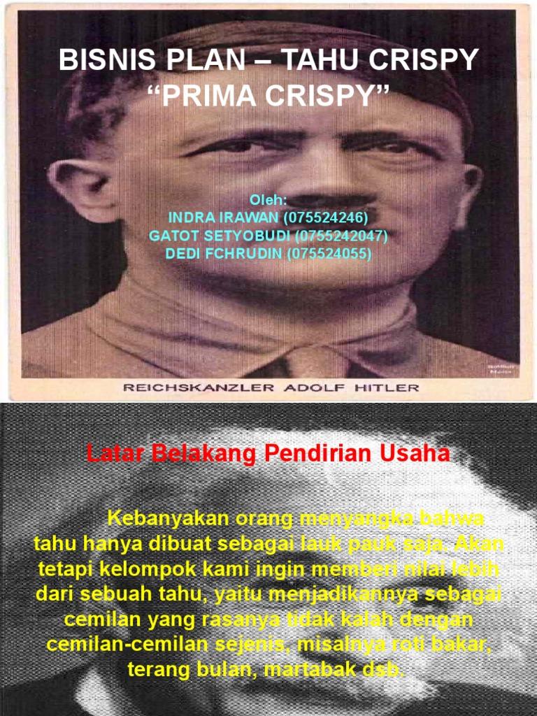 PPT Bisnis Plan Tahu Crispy