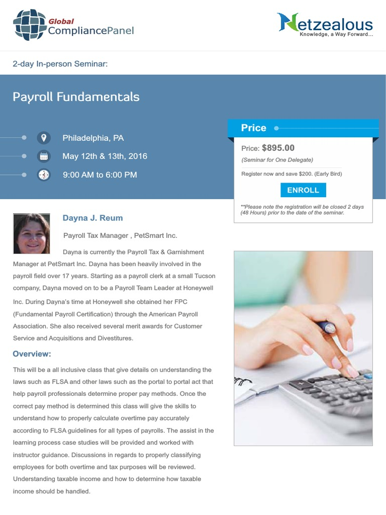 Payroll Fundamentals Philadelphiapdf Fair Labor Standards Act