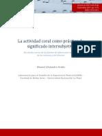 Ordas La Actividad Coral Como Practica de Significado Intersubjetiva