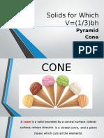 Solids (V=1)3bh) cone