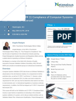 Validation and 21 CFR 11 Compliance of Computer Systems