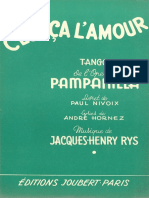 j. h. Rys - Cest CA l'Amour - 1955 - Tango - Band Sheet Music
