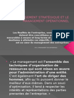Le Management Strategique Et Le Management Operationnel