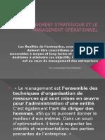 Le Management Strategique Et Le Management Operationnel