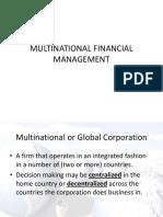 07 Multinational Financial Management