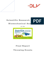 Biomechanics Report WC Berlin 2009 Throws