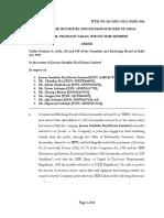 Order in the matter of Jeevan Suraksha Real Estate Limited