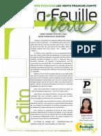 Feuille Verte n°215 – Mars 2016