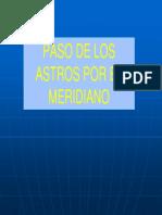 Paso de Los Astros Por El Meridiano Superior