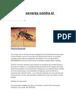 Medidas Severas Contra El Dengue