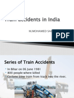 Train Accidents in India