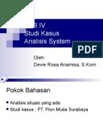Studi Kasus Analisis System