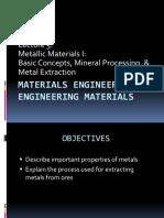 Lecture 5 - Metallic Materials I