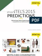 Mintel's 2015 Predictions