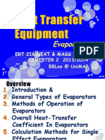 6. Heat Transfer Equipment Evaporator