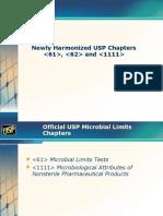Presentation on Harmonized Microbial Enumeration Methods