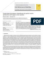 Geomechanical Parameters Identification by Particle Swarm Optimization and Support
