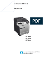 HP LaserJet Pro Color MFP M476 Troubleshooting Manual