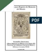 Libros Impresos en México en El Siglo XVI